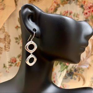 Tiffany & Co. Silver Cushion Drop Earrings